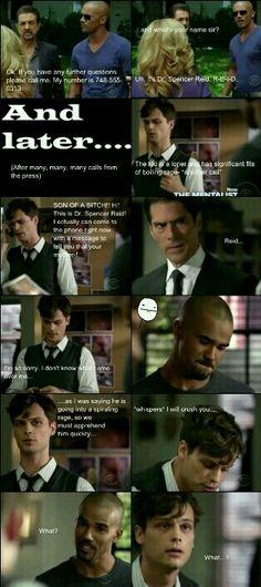 Reid and Morgan's prank war.