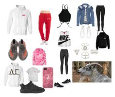 """""""Jake Paul ❤️Erika Costell"""" by chollandbeck on Polyvore featuring NIKE, Puma, Armani Jeans, Charlotte Russe and adidas"""