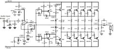 Circuit design of stereo audio amplifier using inexpensive transistor and Part list and PCB design layout and power supply provided. Hifi Amplifier, Class D Amplifier, Electronic Circuit Design, Electronic Engineering, Electronics Projects, Design De Configuration, Layout Design, Dayton Audio, Circuit Board Design