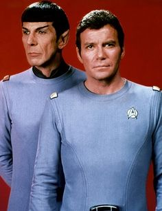 Star Trek, the original, ya gotta love these two! they started it all