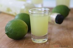 Limecello (like limoncello, but with limes)
