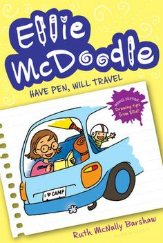 Ellie McDoodle: Have Pen, Will Travel (Ellie McDoodle #1) by Ruth McNally Barshaw. Ellie captures all the excruciating and funny details of a dreaded camping trip in her secret journal. Complete with games, songs, weird facts, and more, Ellie's sketch diary soon reveals she's actually having fun! Humor   Ages 9-12.