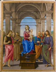 Pala di Senigallia.  1490  Chiesa di Santa Maria delle Grazie a Senigallia.  Donata da Giuliano della Rovere.