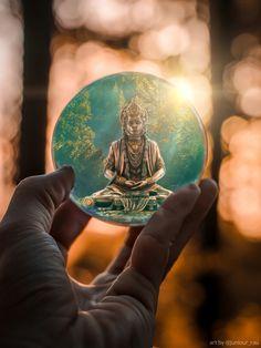Birth And Death, Crystal Ball, Photo, Buddha Art, Photo Manipulation, Art, Buddha, Hanuman, Evil