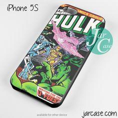 Hulk Marvel Comic Cover 5 Phone case for iPhone 4/4s/5/5c/5s/6/6 plus
