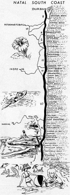 Natal South Coast Map
