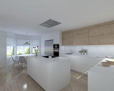 Scandinavian Dining Room Design: Ideas & Inspiration - Di Home Design Kitchen Living, New Kitchen, Kitchen Decor, Luxury Kitchens, Home Kitchens, Scandinavian Dining Table, Kitchen Layout Plans, Dining Room Fireplace, Modern Kitchen Interiors