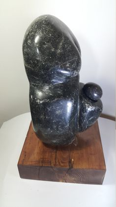 Hand Made Stone Sculpture Contemporary Abstract Modern Black granite Sea Beach Stone - Black Mother two by Aydın KAYIR by SilverStoneArtShop on Etsy Pregnant Mother, Black Mother, Black Granite, Stone Sculpture, Contemporary Sculpture, Beach Stones, Wooden Boxes, Sea, Abstract