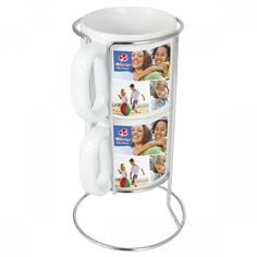 2 PIECE STACKABLE MUG SET WITH FULL COLOR WRAP Product Size: 245w x 85h Branding Options: Dye sublimation, Padprint and Digital transfer  Material: Ceramic Colors Available: All Colours