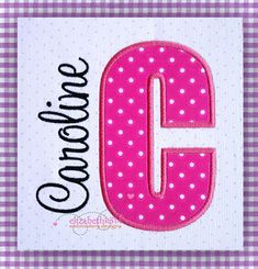 Sizes 3 4 5 6   Applique Embroidery Font 311  by elizabethk314