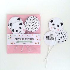 Cake Toppers panda 9 pcs | Le petit biscuit shop