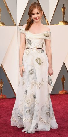 Isla Fisher in an ivory gown