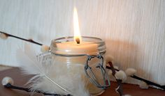bougie naturelle Bougie Bio, Green Life, Hygge, Diy For Kids, Candle Holders, Candles, Homemade, Creative, Decoration