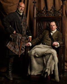 Gary Lewis and Graham McTavish, as brothers Laird Colum and Warlord Dougal MacKenzie.