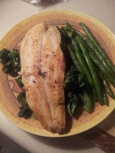 My weight watchers supper with swai fish....
