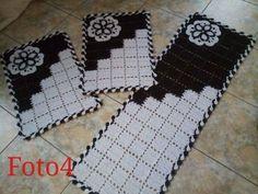 jogos de tapete para cozinha croche