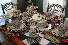 Now that is a table setting...