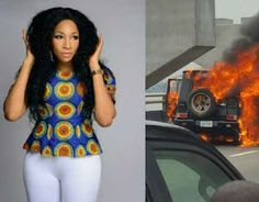 Hot Breaking News: Former Beauty Queen Maryam Elisha escapes death as fire guts vehicle     Former beauty queen turned fashion designer Maryam Elisha has cause to give thanks to God when she escaped death after her Mercedes-Benz G-Class burst into flames on top of the Eko Bridge in Lagos.  Elisha the Chief Executive Officer of Rikaoto by ME was said to be on the wheels of the vehicle when the  incident occurred and she just managed to escape being burnt alive while the G-Wagen was destroyed…