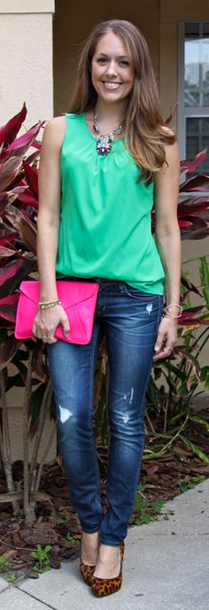 Everything except the pink clutch.