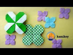 折り紙 クローバーリース Clover wreath Origami(カミキィ kamikey) - YouTube