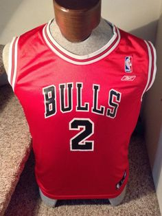 0de5286307a Reebok YL Chicago Bulls   2 Eddie Curry Red Jersey NBA  Reebok  ChicagoBulls