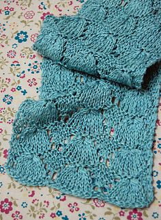 April Showers Scarf by Purl Soho -  free knit pattern on Ravelry page, scroll down a bit. Nice pattern for springtime