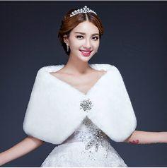 2014 châle de mariage fourrure mariée châle fourrure châle blanc thermique diamant décoration cuicanduomu