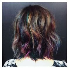 Underlights Are The Secret Rainbow Hair Trend You Can Get Away With At... ❤ liked on Polyvore featuring hair