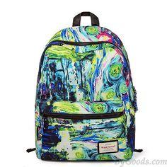 Original Colorful Fine Art Print School Bag Backpack Travel Bag only $37.99 in ByGoods.com!
