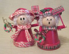 Clay Pot Mrs Claus:  Make in red instead of pink.