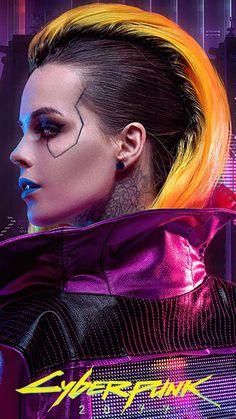 Cyberpunk 2077, Cyberpunk Games, Cyberpunk Girl, Arte Cyberpunk, Cyberpunk Fashion, Character Portraits, Character Art, Science Fiction, New Retro Wave