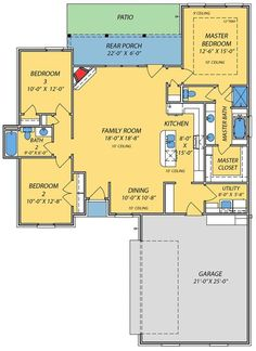 Small House with Giant Family Room - 83853JW | Acadian, French Country, Narrow Lot, Photo Gallery, 1st Floor Master Suite, CAD Available, PDF, Split Bedrooms | Architectural Designs-1498 sq ft