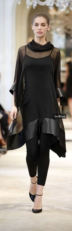 Ralph Lauren Pre Spring 2014 Collection Sheer lagenlook with luxe, opaque borders (abaya idea)