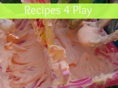 List of Recipes for Play including gloop, slime, salt dough, and others.