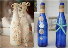 Decoraciones de botellas de vidrio
