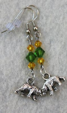 Baylor Bear Earrings! (found on Etsy)