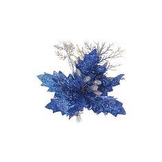 [EUR € 4.22] - Natal azul flores ornamentais em pvc com galhos de... (8.03 BAM) ❤ liked on Polyvore featuring home, home decor, christmas, flowers, backgrounds, fillers, winter and christmas home decor