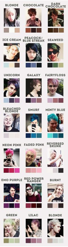 Just in case you wanted a chart of all of Michael's hair color