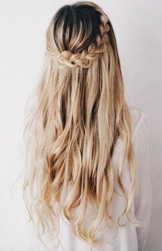 Waterfall braid #bride #hairstyle #wedding