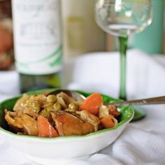 Chicken and white wine casserole