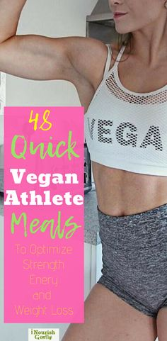 48 nutrient-dense plant-based meals for athletes #plantbased #strength #loseweight