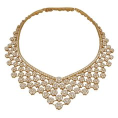 1stdibs - VAN+CLEEF+&+ARPELS+Diamond+Snow+Flakes+Necklace explore items from 1,700+ global dealers at 1stdibs.com