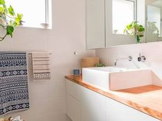 Image result for timber top wall mounted vanity