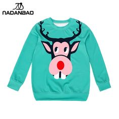 New Arrival Christmas theme moose Women Hoodies high quality 3D Print Pullovers Sweatshirts Molten