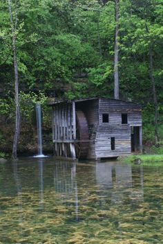 Old mill in the Ozarks. Falling Springs.  Cool place to go on the way to Greer Spring.