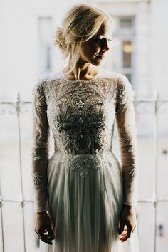 Green Wedding Shoes - Modern Chic Brooklyn Wedding