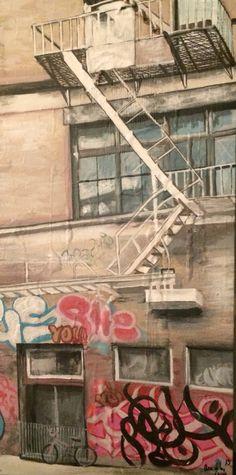 Acrílico sobre lienzo China town Anadelacerda.com