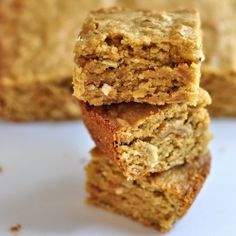 Chewy Coconut Almond Blondies recipe