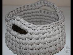 Cómo hacer cesta de trapillo ♥  Laura DIY - YouTube