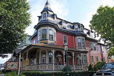 Bed and Breakfast in Cape May NJ #celebratecapemay #capemay #nj #njshore #bedandbreakfast #victorianhouses #victorian Architecture Artists, Unique Architecture, Victorian Architecture, Victorian Bed, Victorian Homes, Beautiful Dream, Beautiful Homes, Nj Shore, Mansard Roof